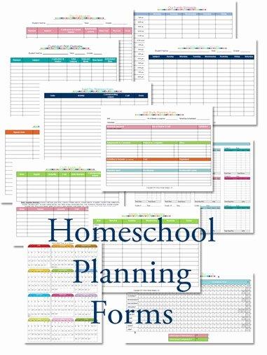 Homeschool Lesson Plan Template Lovely 2015 2016 Homeschool Lesson Planner Confessions Of A