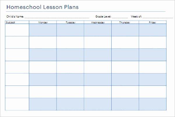 Homeschool Lesson Plan Template Luxury 22 Lesson Plan Templates Free Pdf Word formats