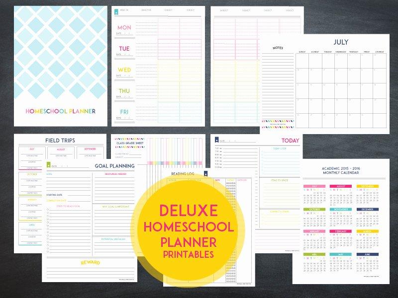 Homeschool Lesson Plan Template Luxury Lesson Planner Template the Deluxe Homeschool Planner