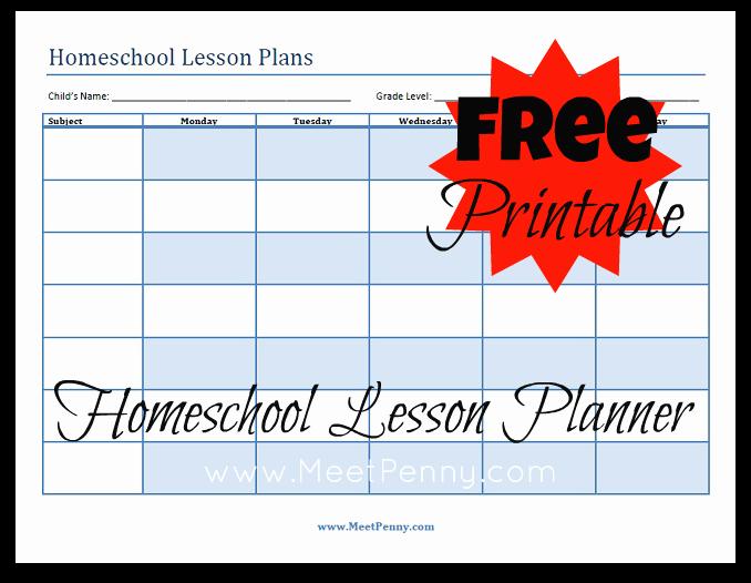 Homeschool Lesson Plan Template New Blueprints organizing Your Homeschool Lesson Plans Meet