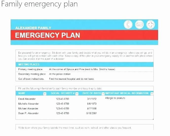 Hospital Emergency Preparedness Plan Template Elegant Emergency Action Plan Medical Template Hospital