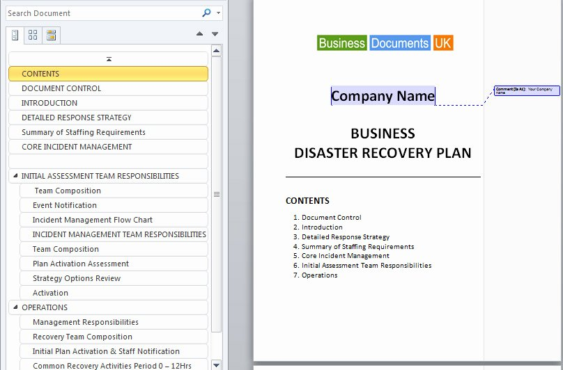 Hospital Emergency Preparedness Plan Template Fresh Disaster Recovery Plan Template Essential Preparation