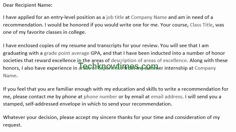 How to ask Recommendation Letter Beautiful Letter to Professor for Re Mendation