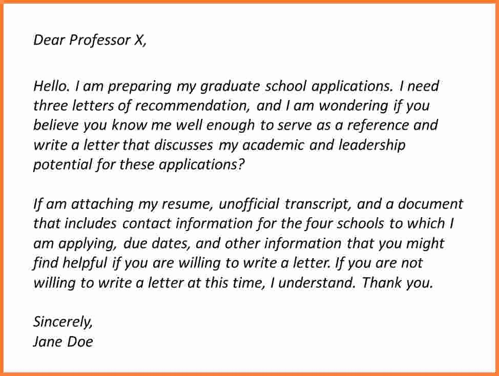 How to ask Recommendation Letter Best Of asking for A Re Mendation Letter