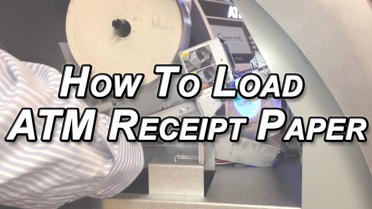 How to Get A Receipt Beautiful How to Load Receipt Paper In Your Nautilus Hyosung atm