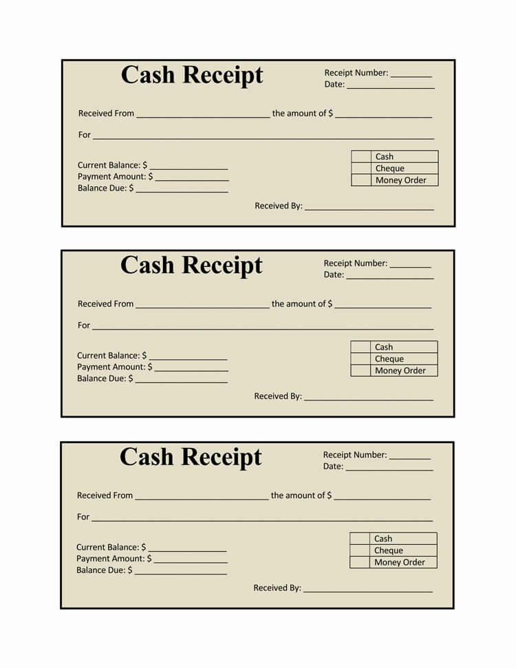 How to Get A Receipt Elegant 21 Free Cash Receipt Templates for Word Excel and Pdf