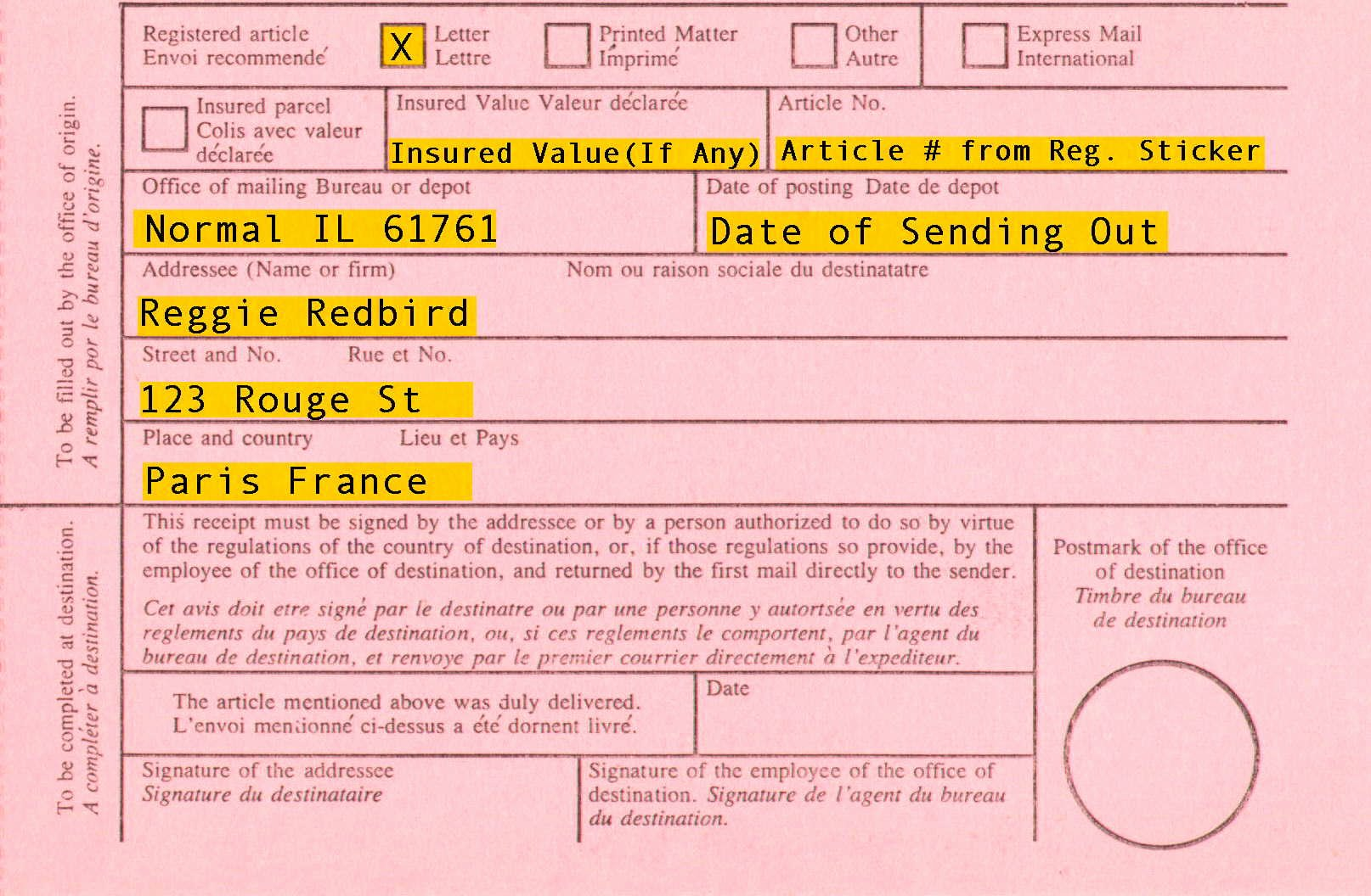 How to Get A Receipt Fresh Registered Mail Information