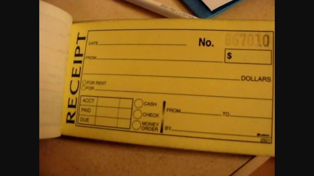 How to Get A Receipt Lovely Dj Tip Receipt Book