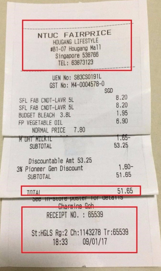 How to Get A Receipt New Ntuc Fairprice Receipt Number