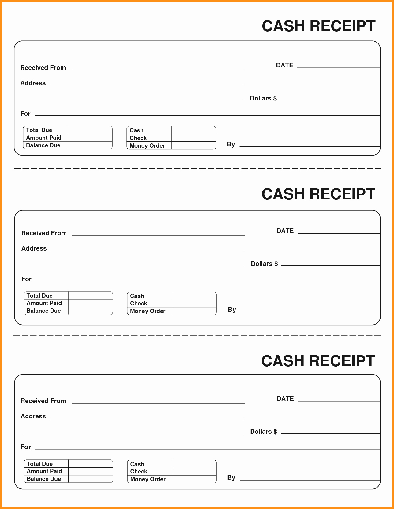 How to Print Receipts Elegant Blank Receipt Example Mughals