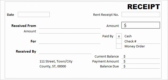 How to Print Receipts Elegant Receipt Template Excel