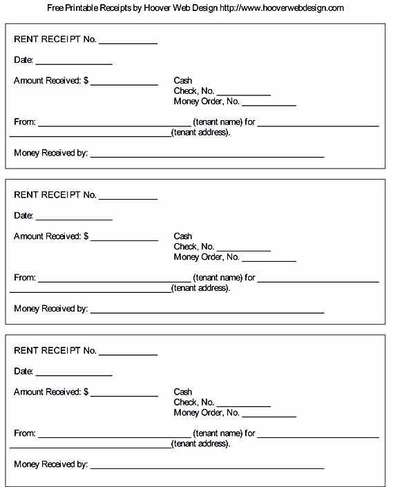 How to Print Receipts Fresh Free Rent Receipt Template and What Information to Include