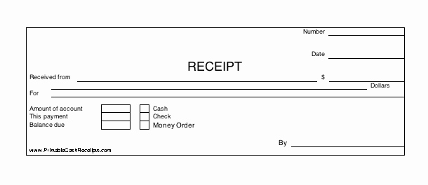 How to Print Receipts Inspirational Three Identical Horizontal Cash Receipts Print Out Per