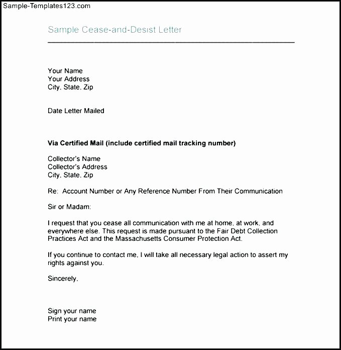 How to Write A Defamation Of Character Letter Unique Cease and Desist Sample – Template Gbooks
