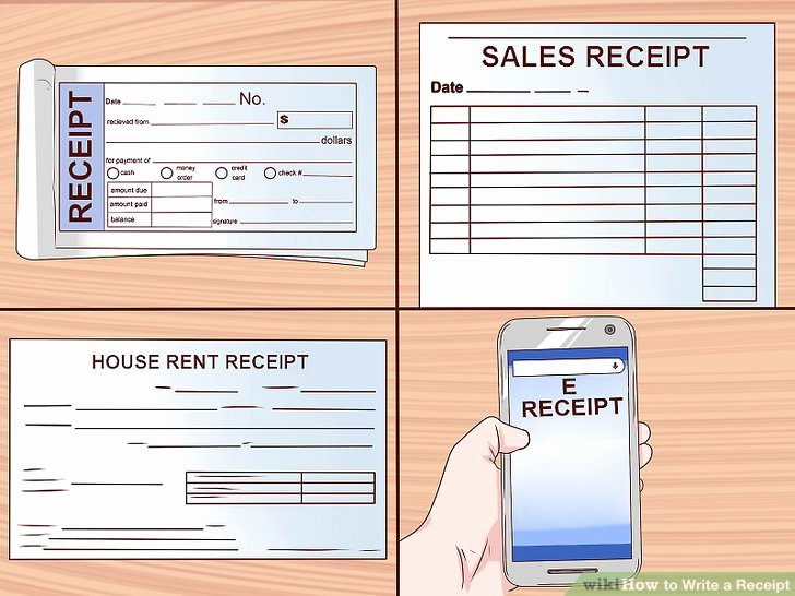 How to Write A Reciept Beautiful How to Write A Receipt 9 Steps with Wikihow