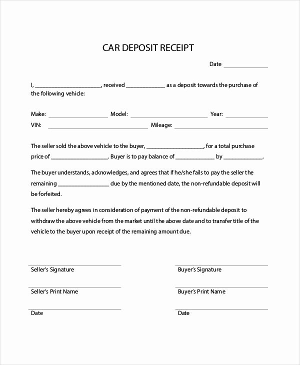 How to Write A Reciept Best Of Car Payment Receipts 9 Examples In Word Pdf