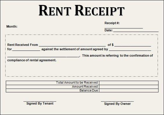 How to Write A Reciept Elegant 21 Rent Receipt Templates