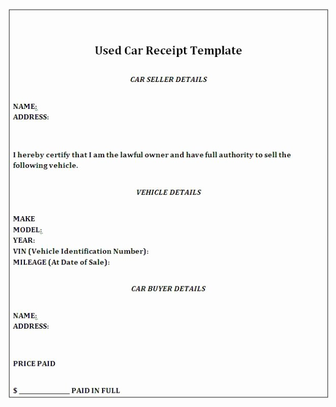 How to Write A Reciept Elegant How to Write A Receipt for Selling A Car Filename