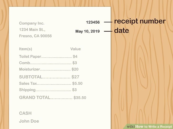 How to Write A Reciept Fresh 3 Ways to Write A Receipt Wikihow
