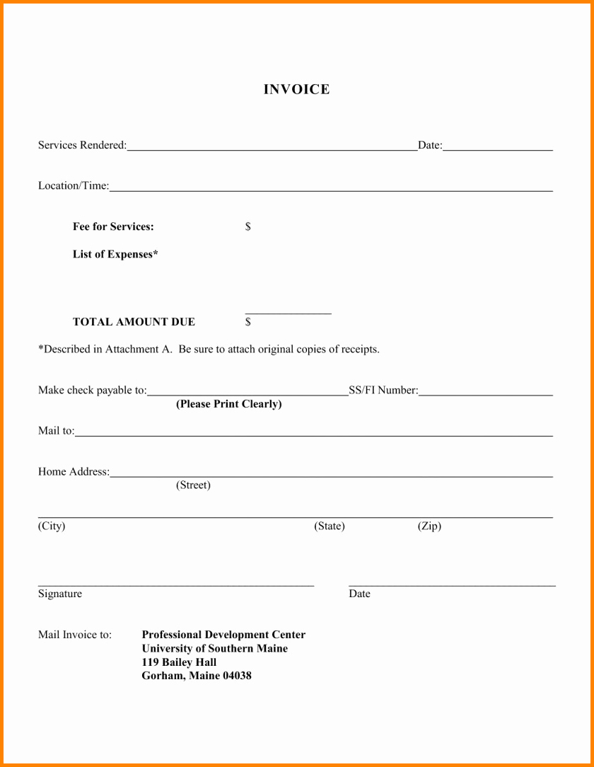 How to Write A Reciept New 6 How to Write A Bill for Services Rendered