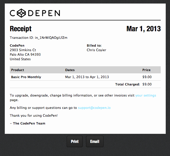 How to Write Receipt Best Of Proper Receipts Codepen Blog