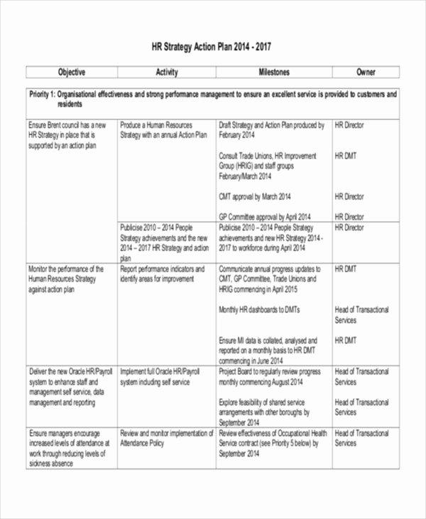 Hr Strategic Plan Template Best Of 44 Strategic Plan Samples