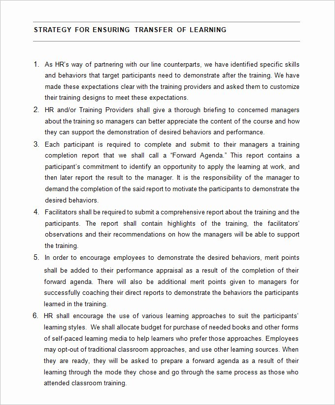 Hr Strategic Plan Template Best Of Hr Strategy Template 31 Word Pdf Documents Download