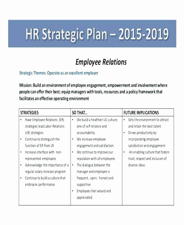 Hr Strategic Plan Template Fresh Employee Accountability Template – Ertkfo