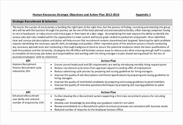 Hr Strategic Plan Template Fresh Hr Strategy Template 31 Word Pdf Documents Download