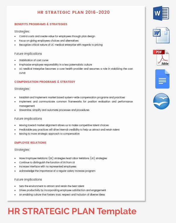 Hr Strategic Plan Template Fresh Hr Strategy Template 39 Word Pdf Documents Download