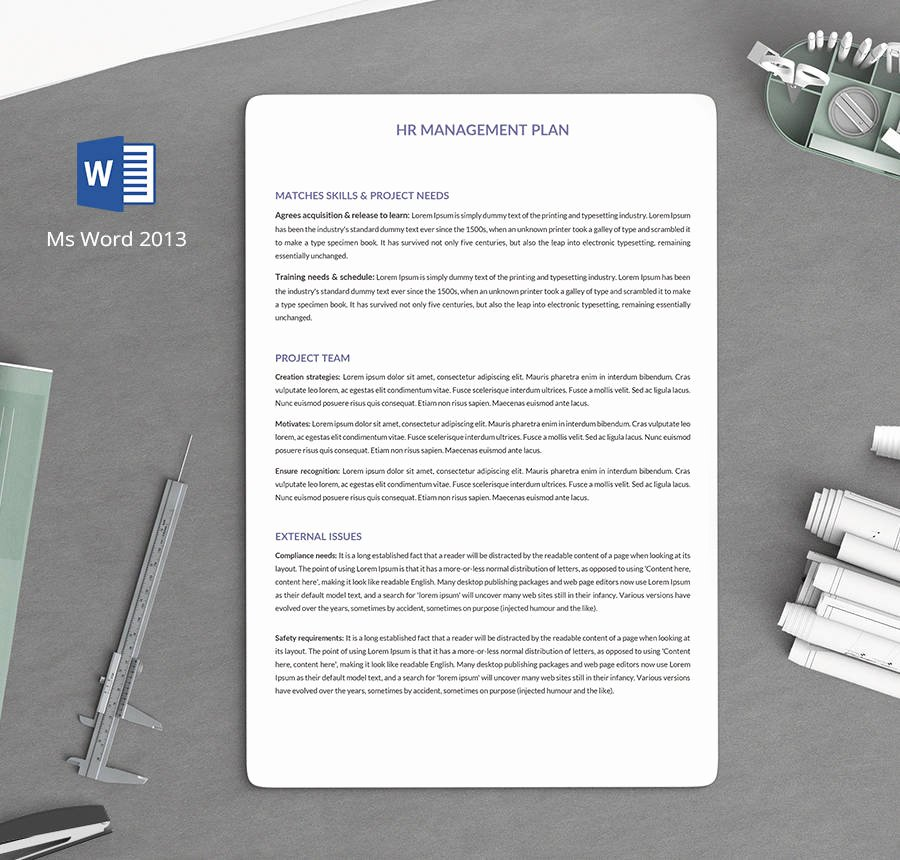 Hr Strategic Plan Template Inspirational 7 Free Human Resource Strategy Templates Sales