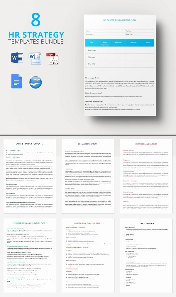 Hr Strategic Plan Template New Hr Strategy Template 39 Word Pdf Documents Download