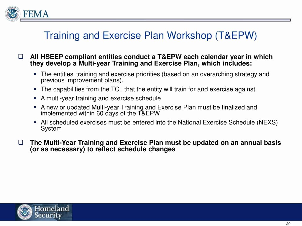 Hseep Exercise Plan Template Awesome Ppt Integration Homeland Security Exercise and