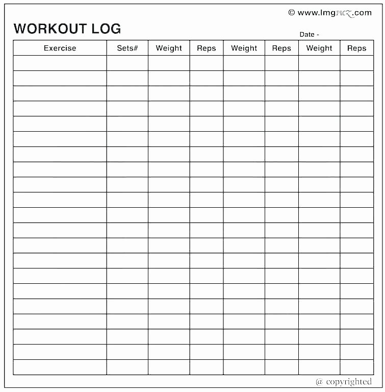 Hseep Exercise Plan Template Beautiful Excel Workout Template Schedule Gym Exercise Training Plan