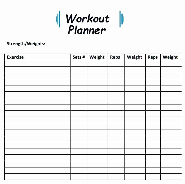Hseep Exercise Plan Template Beautiful Workout Planner Template Exercise Plan Fitness Schedule