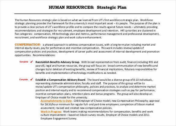 Human Resources Strategic Plan Template Awesome 26 Hr Strategy Templates Free Sample Example format