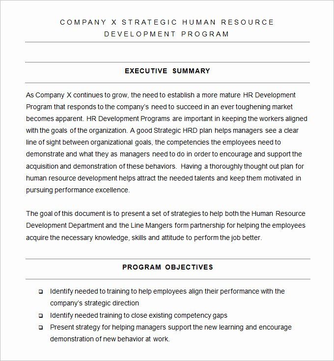 Human Resources Strategic Plan Template Elegant Hr Strategy Template 31 Word Pdf Documents Download