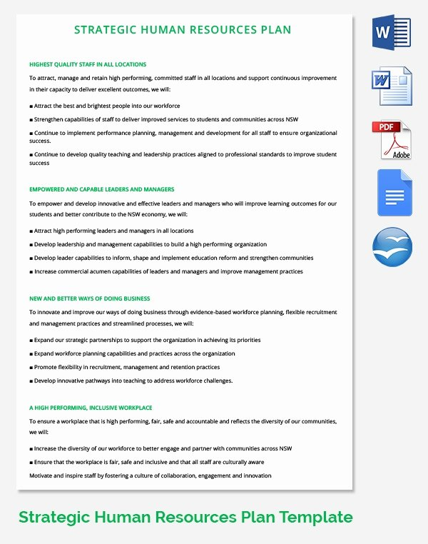 Human Resources Strategic Plan Template Inspirational 26 Hr Strategy Templates Free Sample Example format