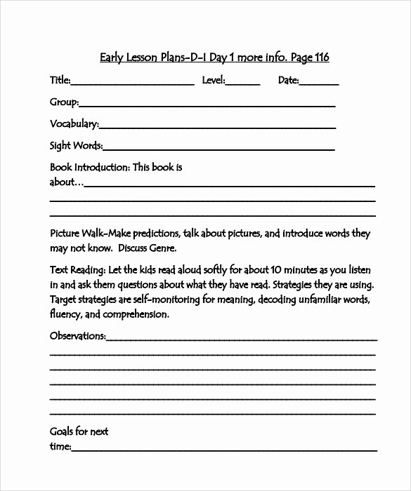 Hunter Lesson Plan Template Lovely 10 Sample Guided Reading Lesson Plans