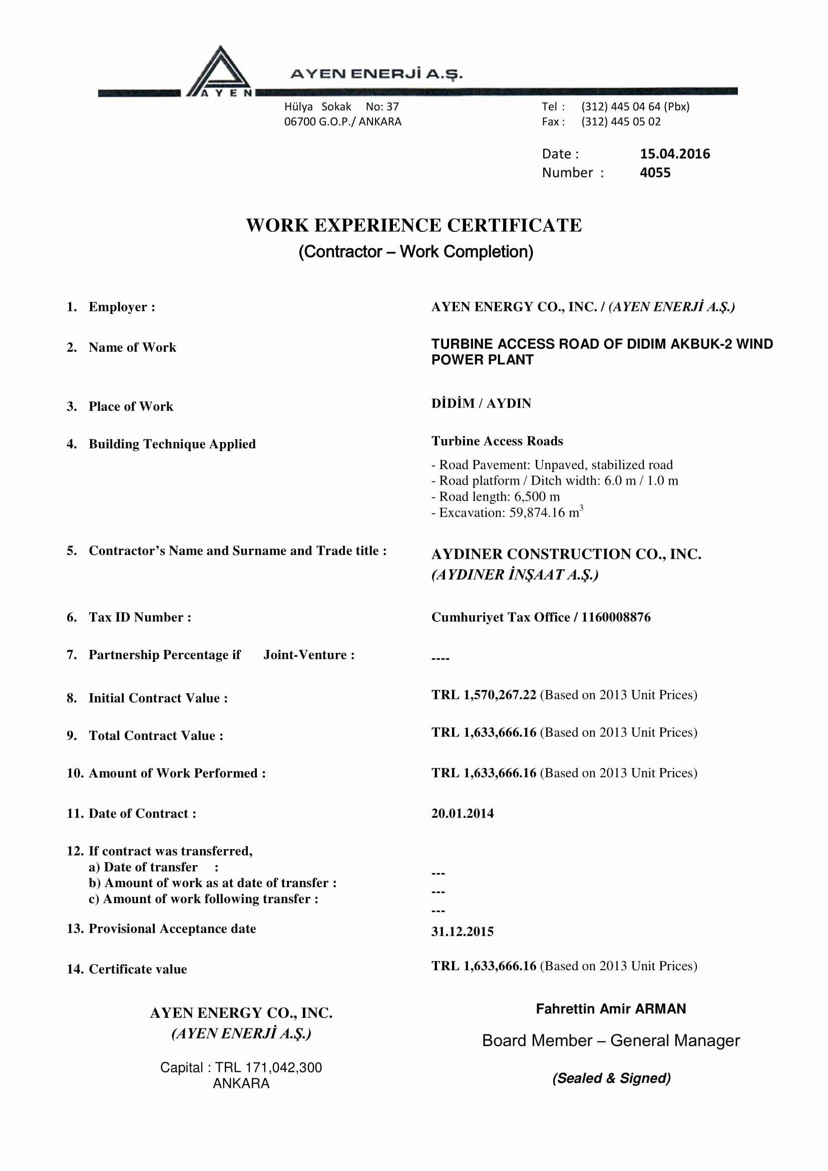 I140 Experience Letter format Fresh 15 Experience Letter Templates In Pdf