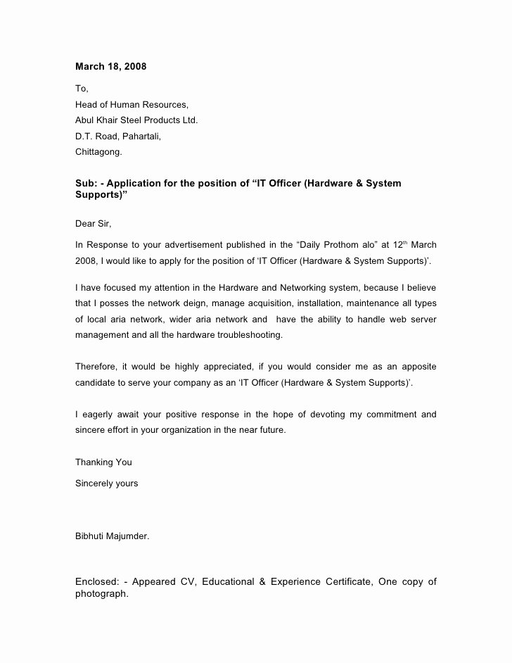 I140 Experience Letter format Inspirational Cover Letter Networking