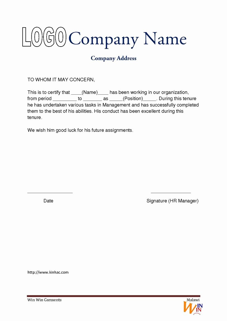 I140 Experience Letter format Lovely Work Experience Letter Pad format Seeabruzzo Hgwzdnrk
