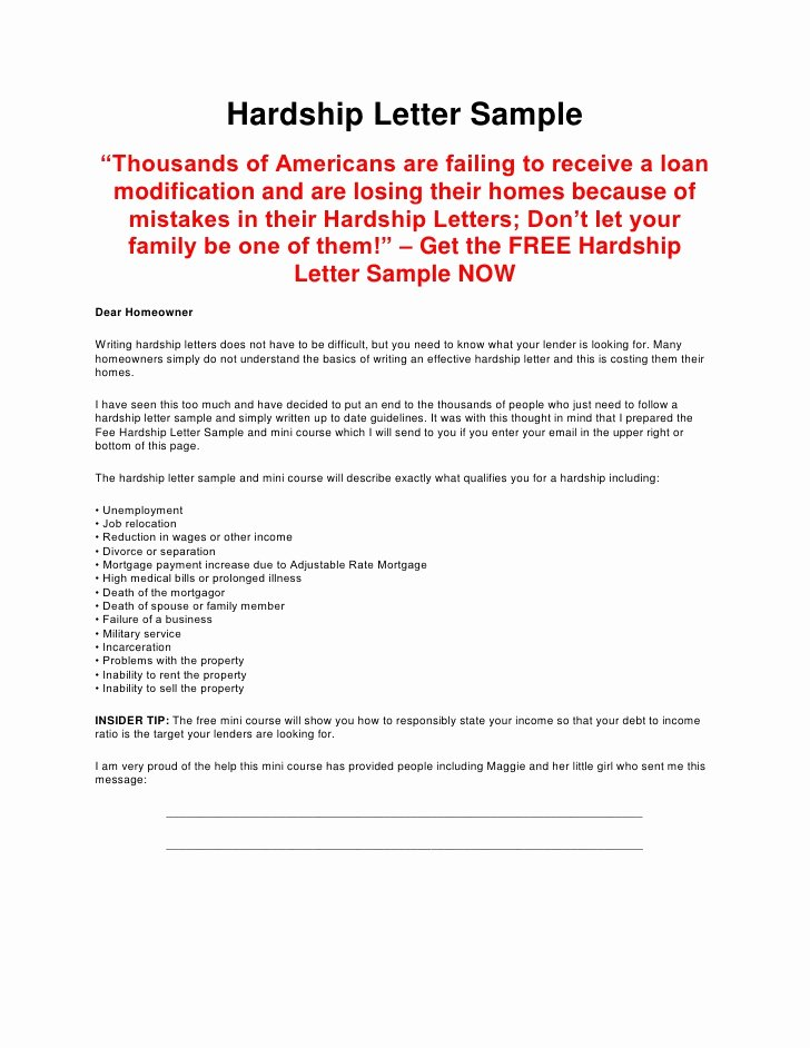 Immigration Hardship Letter format Best Of Hardship Letter Template