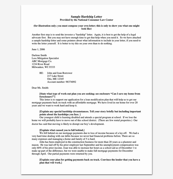 Immigration Hardship Letter format Fresh Hardship Letter Template 10 for Word Pdf format