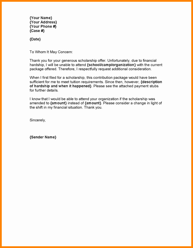 Immigration Hardship Letter format New 5 Example Of Hardship Letter for Immigration