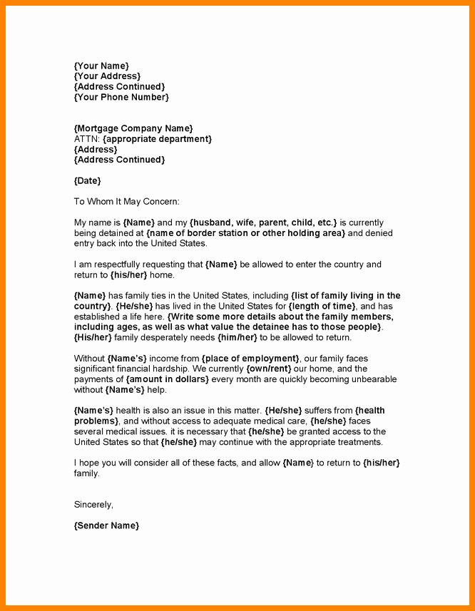 Immigration Hardship Letter format Unique 11 Immigration Pardon Letter Sample