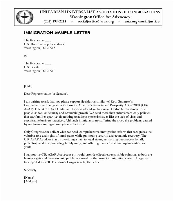 Immigration Letter Of Recommendation Sample Best Of 10 Immigration Reference Letter Templates Pdf Doc