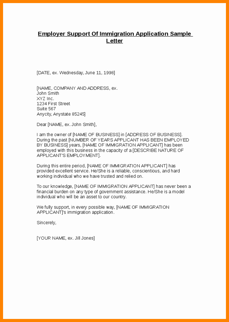 Immigration Letter Of Recommendation Sample Best Of 7 Letter Of Re Mendation for Immigration Marriage