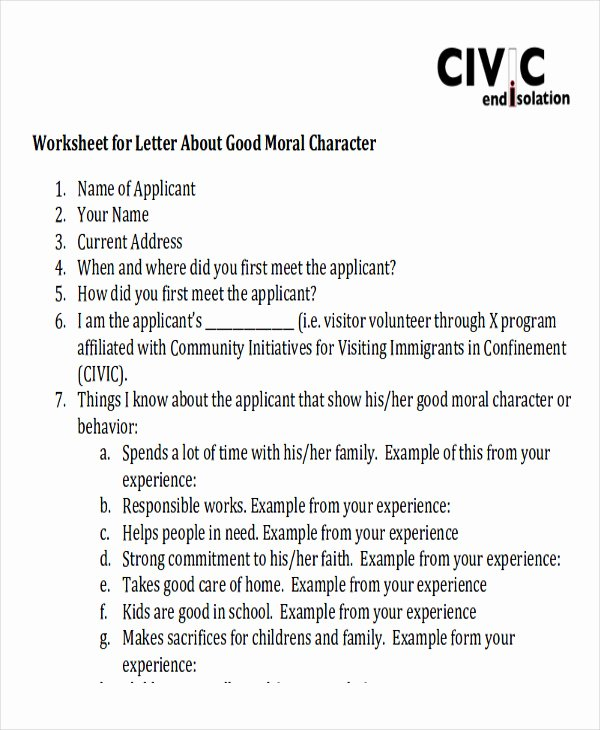 Immigration Letter Of Recommendation Sample Fresh Sample Family Reference Letter 7 Examples In Pdf Word