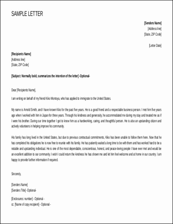 Immigration Letter Of Recommendation Sample Fresh Steps to Writing A Reference Letter for Immigration